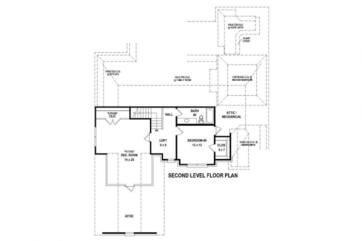 Traditional House Plan -  66569 - 2nd Floor Plan
