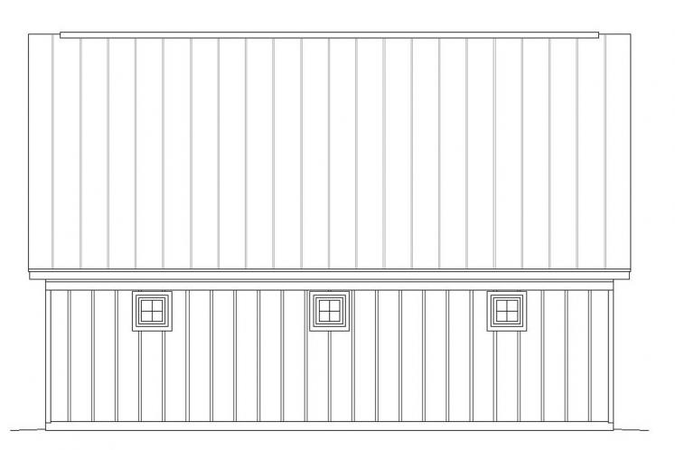 Country Garage Plan -  66575 - Right Exterior