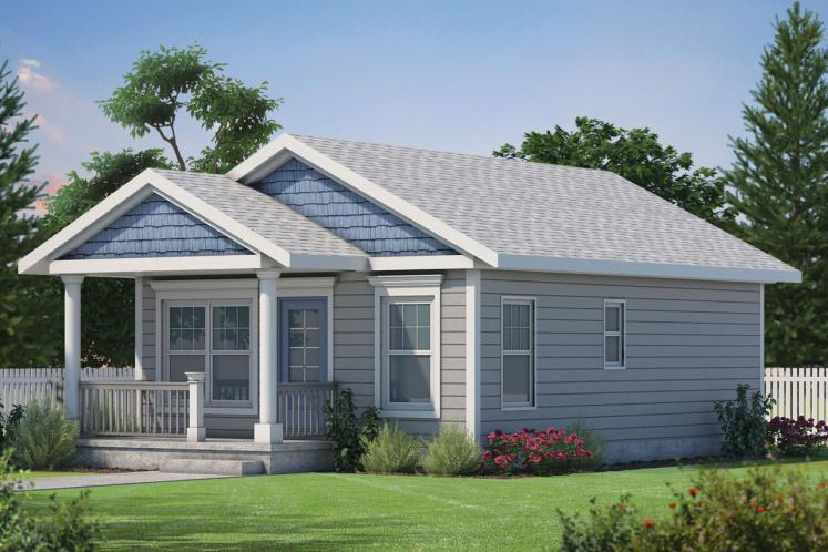 Cottage House Plan - Mylitta Cottage II 66610 - Front Exterior