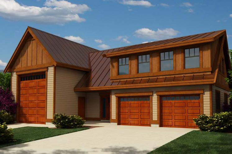 Traditional Garage Plan -  66684 - Front Exterior
