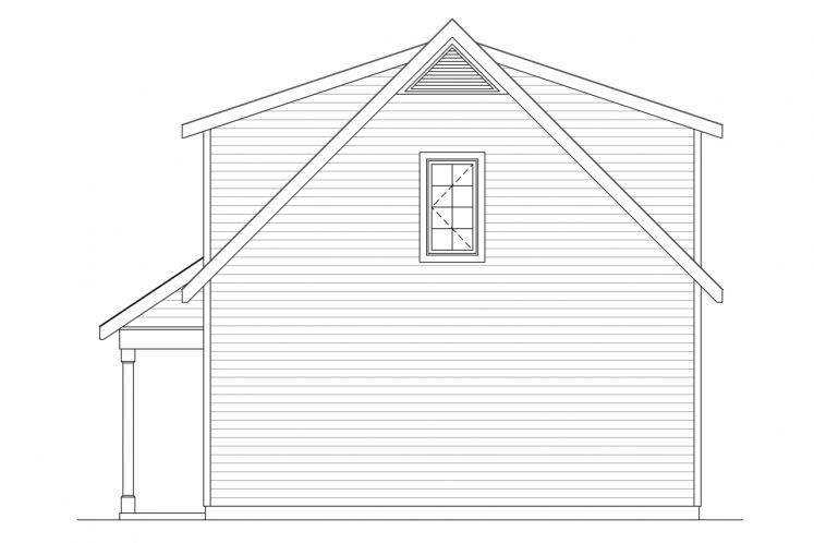 Country Garage Plan -  66709 - Right Exterior