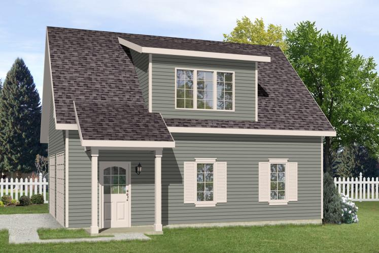 Traditional Garage Plan -  66709 - Front Exterior