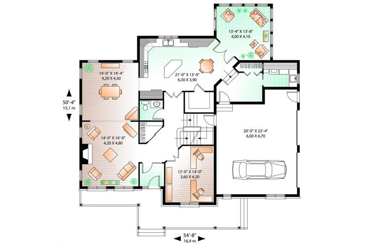 Traditional House Plan - Marseille 2 66735 - 1st Floor Plan