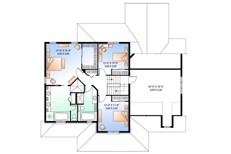 Country House Plan - Marseille 2 66735 - 2nd Floor Plan
