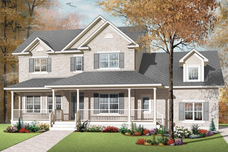 Country House Plan - Marseille 2 66735 - Front Exterior