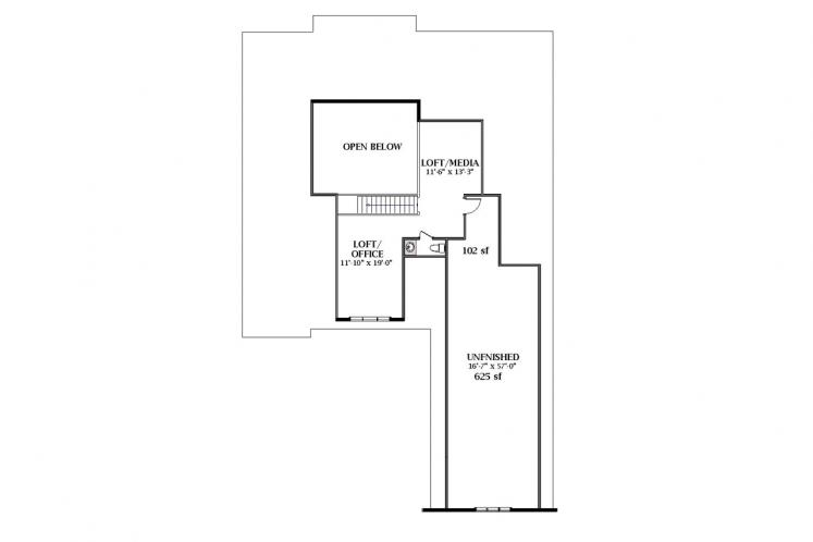 Farmhouse House Plan - Clarendon C 66809 - 2nd Floor Plan
