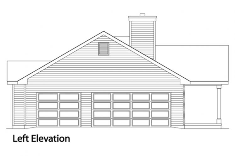Ranch House Plan -  66816 - Left Exterior