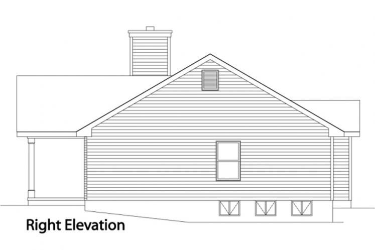 Traditional House Plan -  66816 - Right Exterior