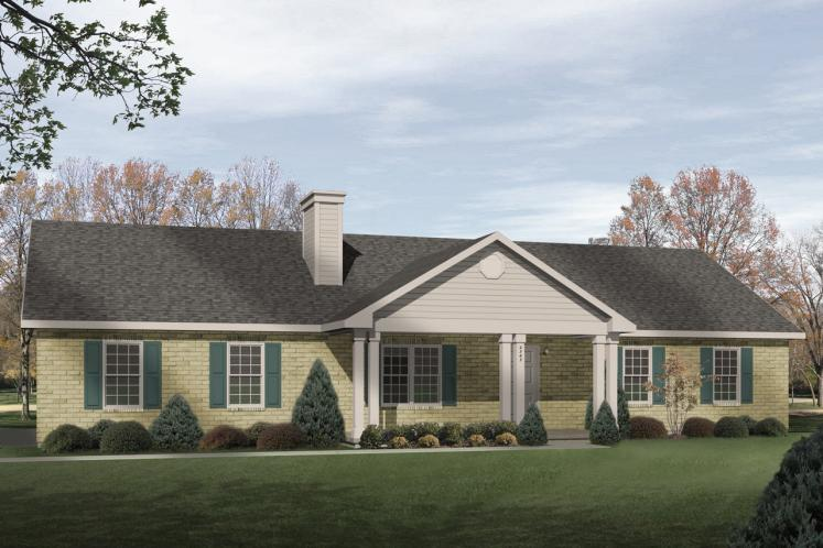 Ranch House Plan -  66816 - Front Exterior