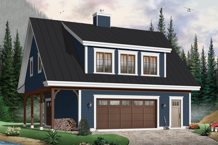 Country Garage Plan - The Saddlery 66894 - Front Exterior