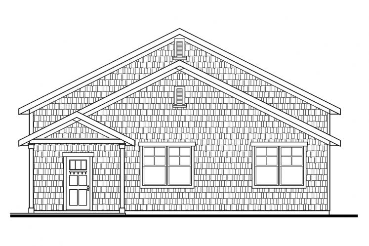 Cape Cod Garage Plan - RV Garage 66947 - Right Exterior