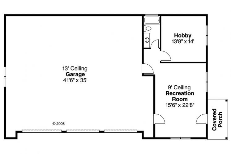 Craftsman Garage Plan - RV Garage 66947 - 1st Floor Plan