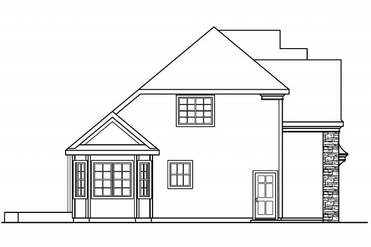 Traditional House Plan - Fitzgerald 66977 - Left Exterior