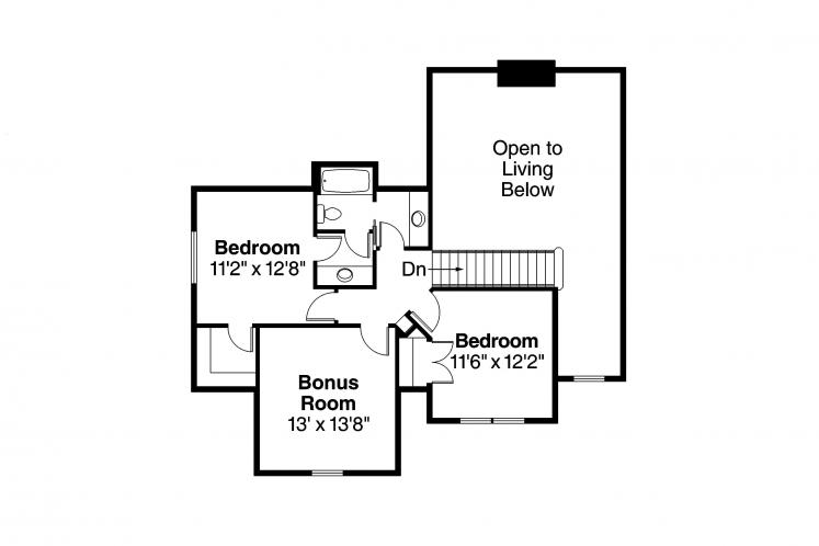 Traditional House Plan - Fitzgerald 66977 - 2nd Floor Plan