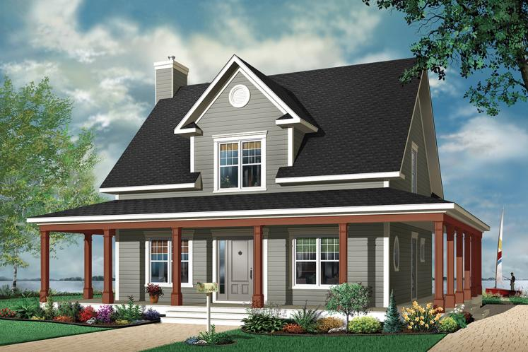 Country House Plan - Cumberland 67089 - Front Exterior