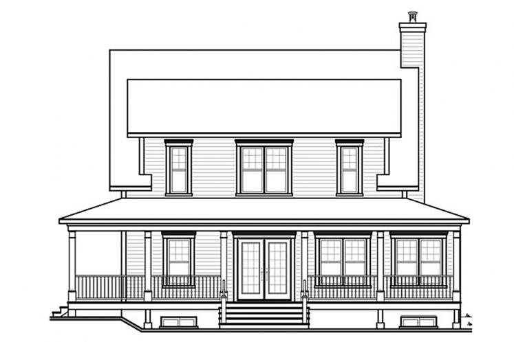 Traditional House Plan - Cumberland 67089 - Rear Exterior