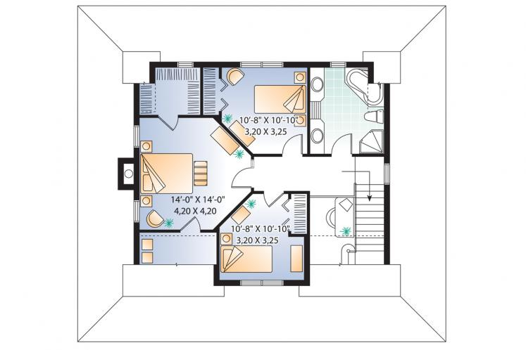 Country House Plan - Cumberland 67089 - 2nd Floor Plan
