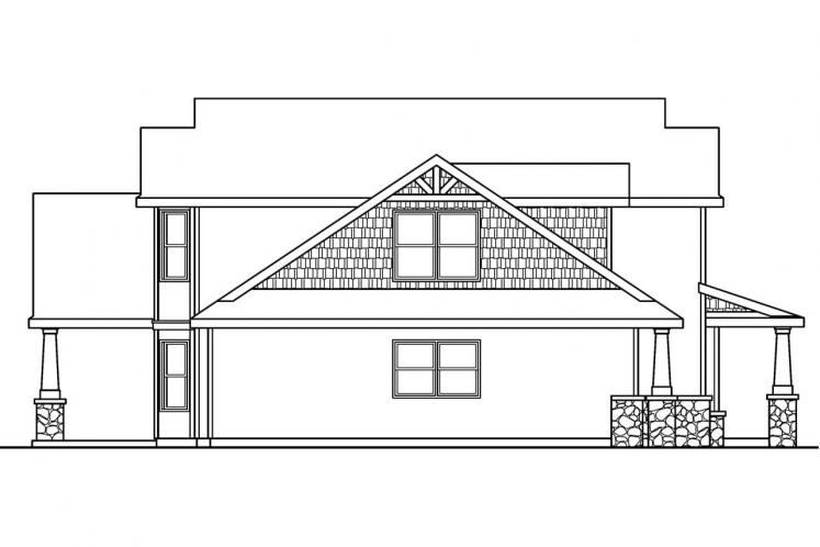 Traditional House Plan - Montego 67178 - Left Exterior
