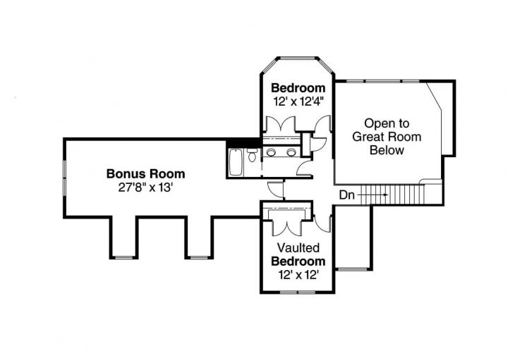 Traditional House Plan - Montego 67178 - 2nd Floor Plan