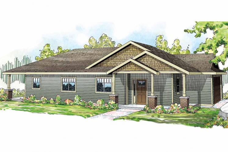 Ranch House Plan - Hopewell 67210 - Front Exterior