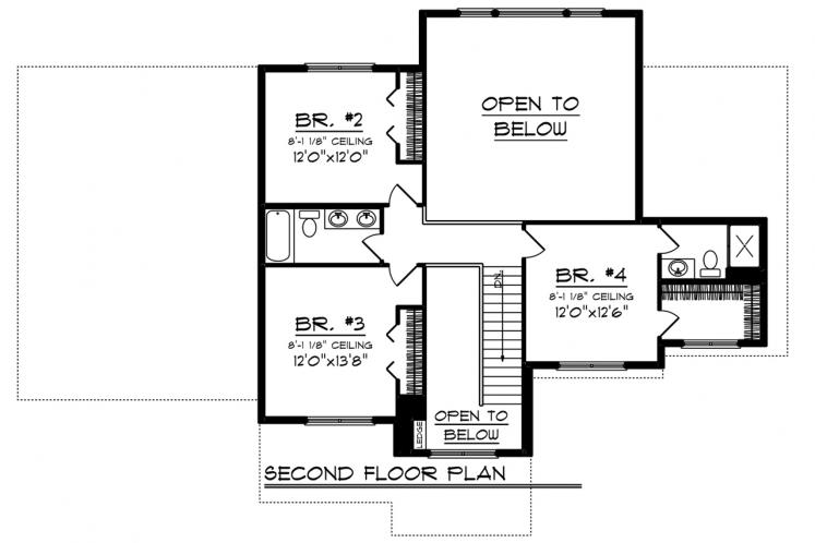 Bungalow House Plan -  67275 - 2nd Floor Plan
