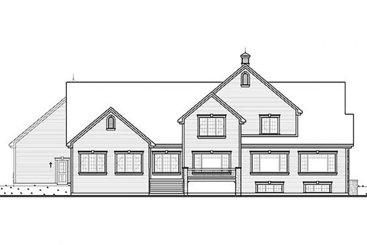 Traditional House Plan - Robertsdale 67277 - Rear Exterior