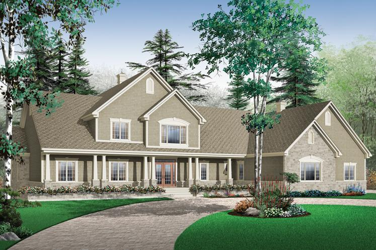 Ranch House Plan - Robertsdale 67277 - Front Exterior
