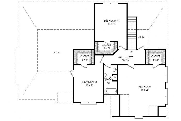 European House Plan -  67321