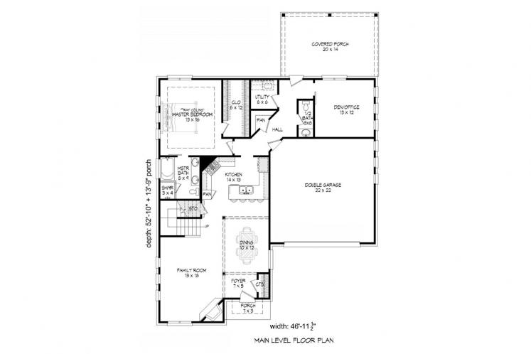 Contemporary House Plan -  67335 - 1st Floor Plan