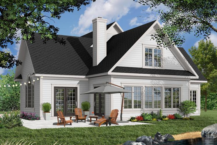 Traditional House Plan - Journey's Edge 67481 - Rear Exterior