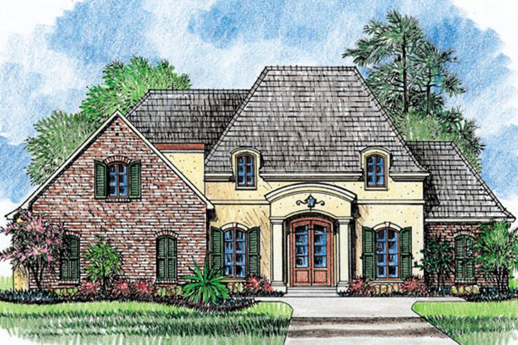 European House Plan - Georgetown 67497 - Front Exterior