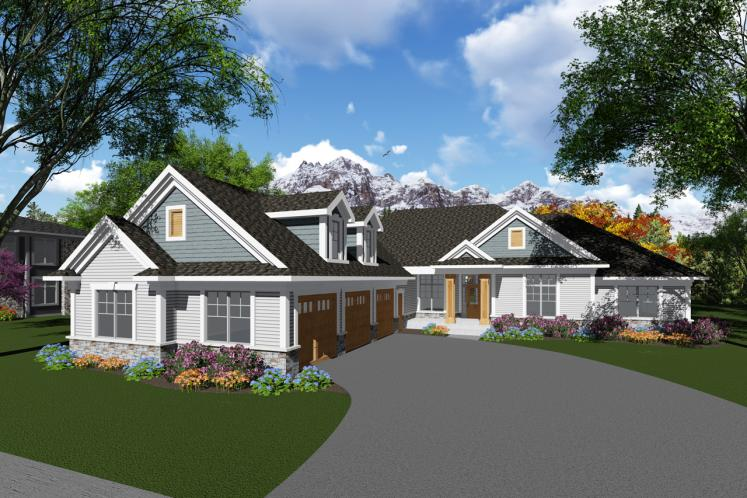 Ranch House Plan -  67515 - Front Exterior