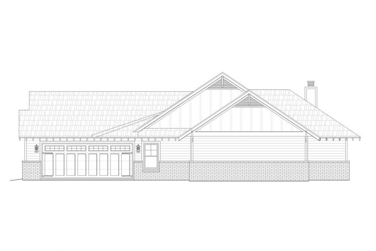 Craftsman House Plan -  67565 - Right Exterior