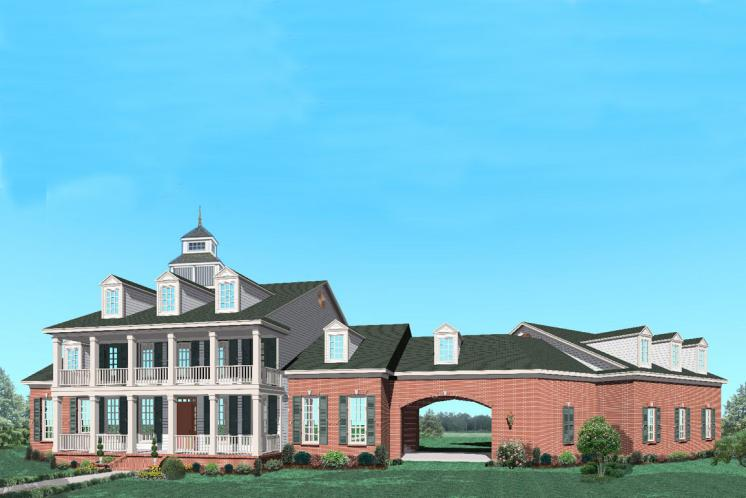 Southern House Plan -  67571 - Front Exterior