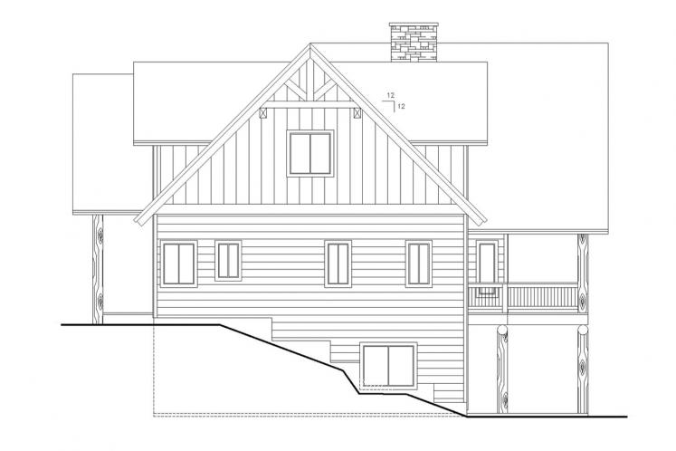 Lodge Style House Plan -  67588 - Right Exterior