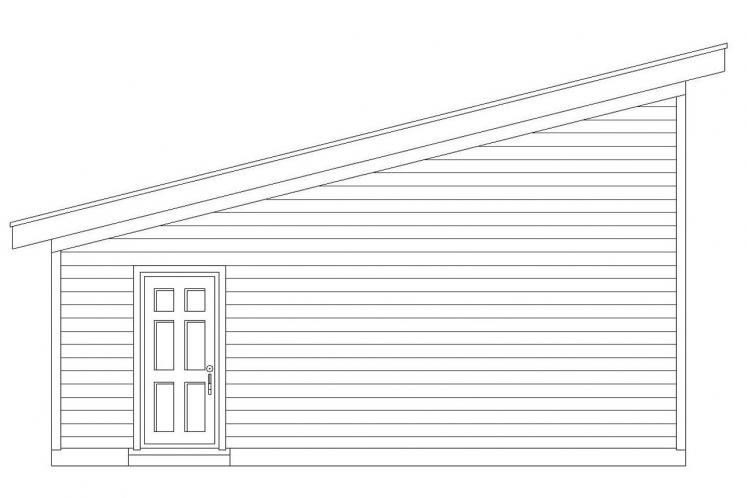 Modern Garage Plan -  67702 - Left Exterior