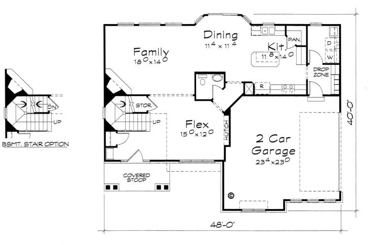 Traditional House Plan - Jackson 67705 - 1st Floor Plan
