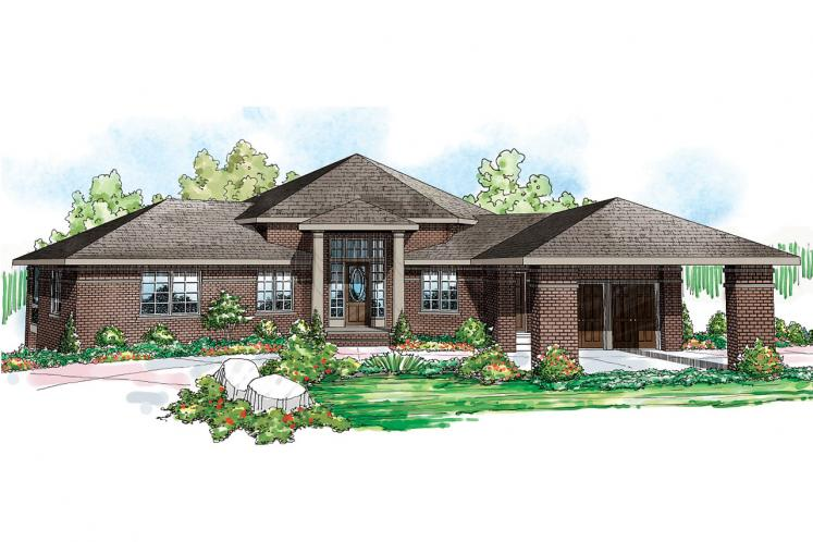 Southern House Plan - Alder Springs 67885 - Front Exterior