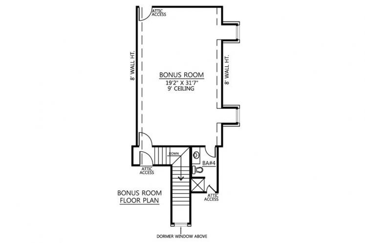 Southern House Plan - St. Augustine 67997 - 2nd Floor Plan