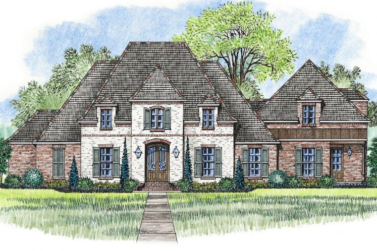 European House Plan - St. Augustine 67997 - Front Exterior