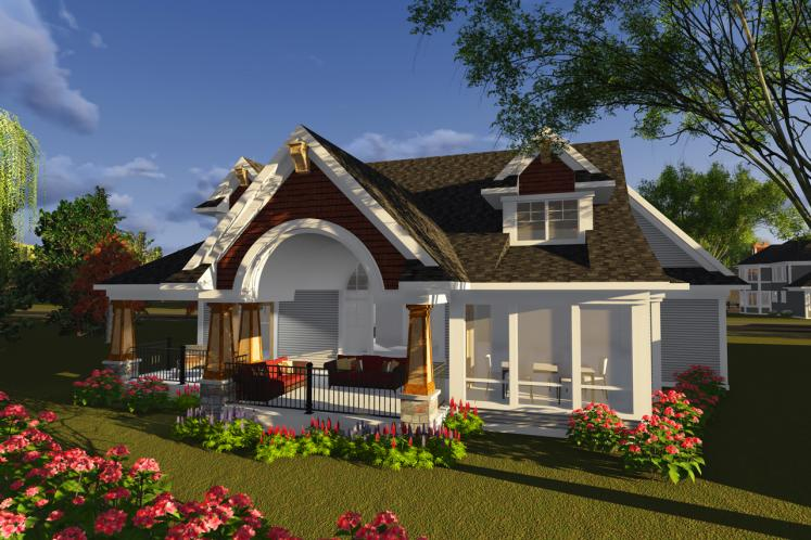 Craftsman House Plan -  68029 - Rear Exterior