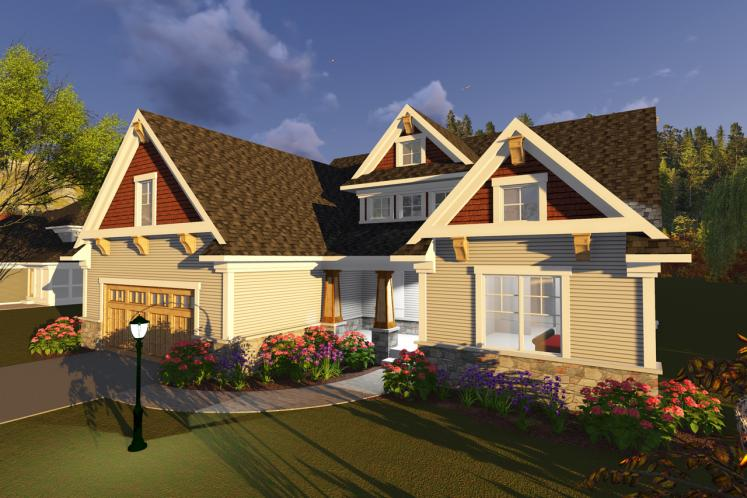 Country House Plan -  68029 - Front Exterior