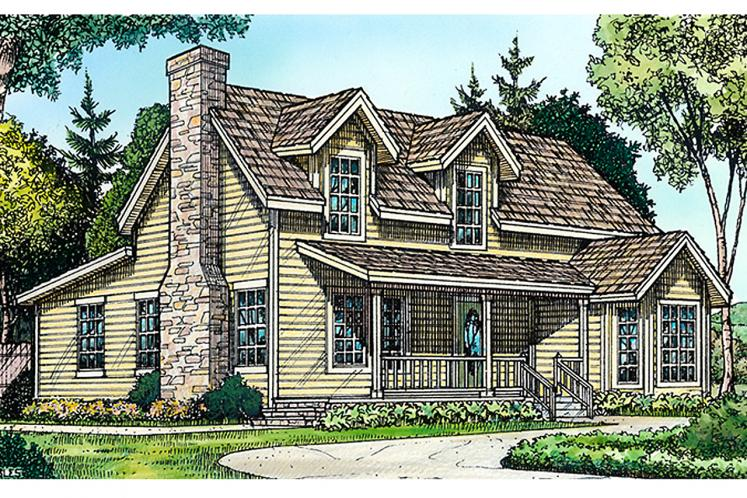 Country House Plan - Lubbock 68032 - Front Exterior