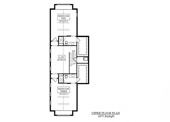 Craftsman House Plan - Acula 68040 - 2nd Floor Plan
