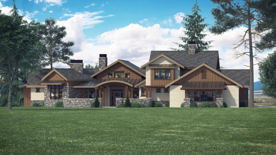 Craftsman House Plan - Acula 68040 - Front Exterior