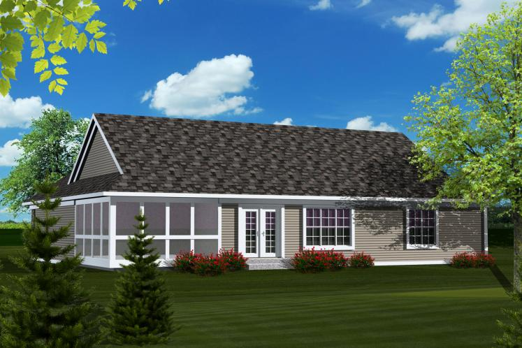 Classic House Plan -  68045 - Rear Exterior