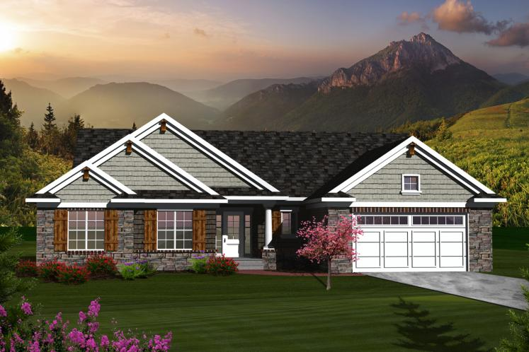 Traditional House Plan -  68045 - Front Exterior