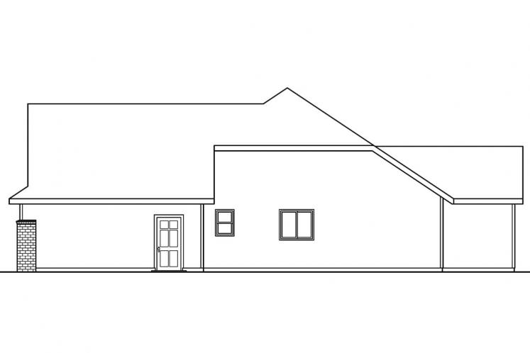 Prairie House Plan - Cheyenne 68191 - Right Exterior