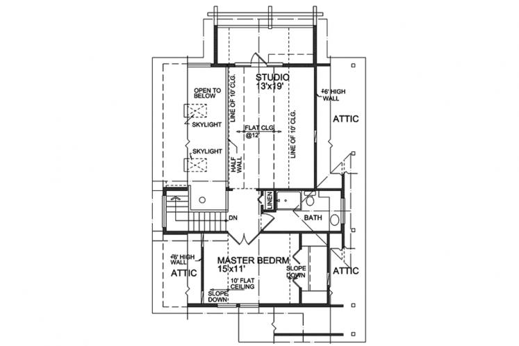 A-Frame House Plan - Sentinel 68197 - 2nd Floor Plan