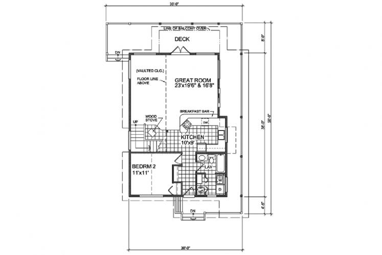 Craftsman House Plan - Sentinel 68197 - 1st Floor Plan